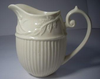 Vintage I. Godinger Antique White Oval Creamer