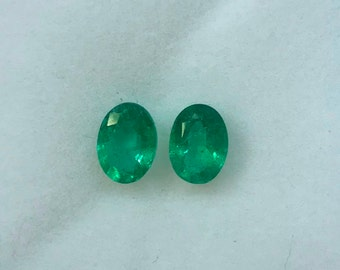 1.67Cts Natural Zambian Emerald AAA Grade 7X5MM Oval Cut Faceted Wholesale Lot Loose Gemstone