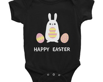Happy Easter Bodysuit, Happy Easter Bunny Bodysuite, Happy Easter Eggs, Easter Holiday, Easter Bunny, First Easter Shirt, Easter Bodysuit