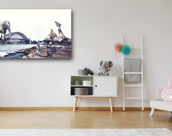 Out to Play, Large Print, Animal Print, Animals, Sydney Print