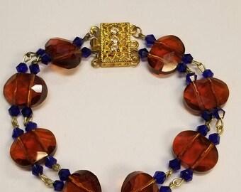 Amber and Blue bracelet