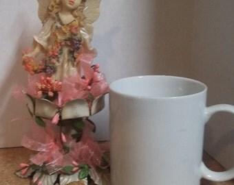 pink garden fairy