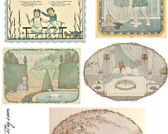 Vintage Nursery Rhyme Images - Print & Use!