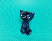 Galaxy Cat with Blue Eyes - Resin Figurine