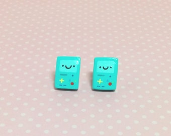 BMO Adventure Time Clay Sterling Silver Post Earrings