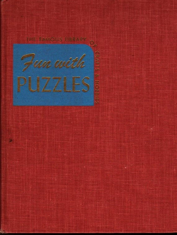 Fun With Puzzles + Joseph Leeming + Jessie Robinson + 1946 + Vintage Craft Book