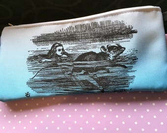 Alice & the Mouse pencil case - zipper pouch