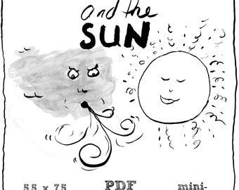 The Northwind And The Sun mini comic, PDF Digital Download