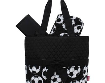 Baseball diaper bag etsy soccer quilted diaper bag boy diaper bag monogram diaper bag personalized diaper bag negle Image collections