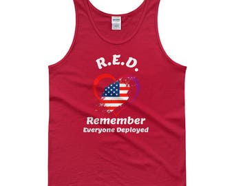 R.E.D. Military United States Friday Honor Armed Forces Tank top