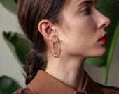 spiral hoops / coil earrings / gold hoop earrings / 1905a