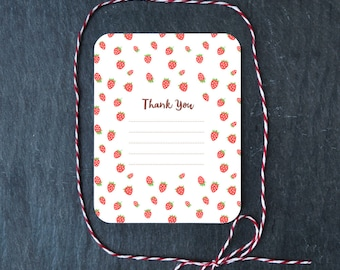 Strawberry Thank You Card - Note Card