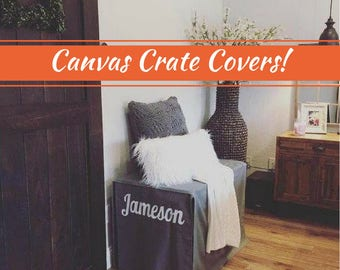 Canvas Dog Crate Cover, 17 Colors for Summer, Custom Crate Cover, Kennel Cover, Pet Crate Cover, Personalization & Grommets Extra