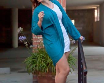 Chic Silk Rayon Kimono Cover. Street Kimono. Dressy Bamboo Silk Cover. Soft and Silky Batwing Flowy Jacket. ONE Size M-XL