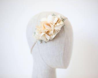 flower crown headband, ivory floral headband, flower girl headband, flower crown toddler, baby birthday headband, flower headband child