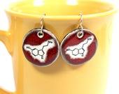 Serotonin Ceramic Earrings in Red