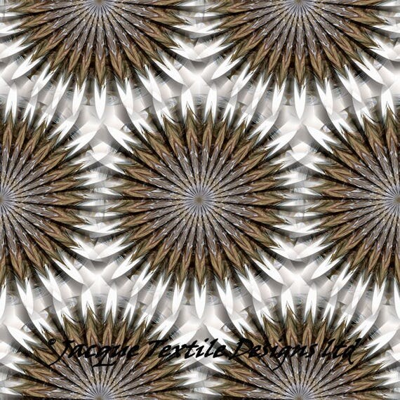 Hand Created Intricate Snowflake Velvet Upholstery Fabric Fiber Art Modern Fabric