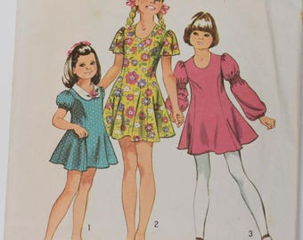 Vintage 1971 Simplicity Pattern 9796 Girls 14 1/2
