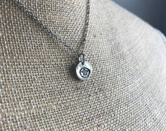 Sand Dollar Necklace - Hand Stamped - Beach Jewelry