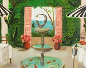 Twelve Days At The Penny Fontaine Hotel. Day Twelve: Toss A Penny In The Hotel Fountain And Make A Wish To Return Next Year. Art Print