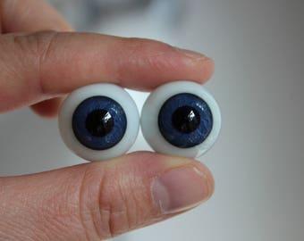 20mm Large Pupil Glass Eyes - Blue