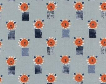 Cotton + Steel, Lions Blue, Sunshine Fabric