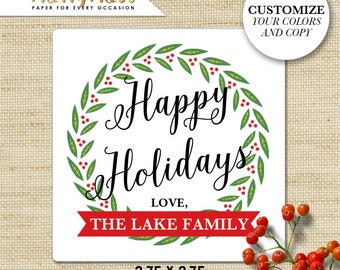 Christmas GIFT TAGS personalized, Holiday Gift Tags, Christmas Stickers, Custom Labels, Holiday Gift Sticker, Happy Holidays, Eco Friendly