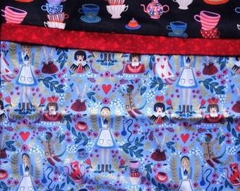 Alice in Wonderland Blue Pillowcase Standard Size
