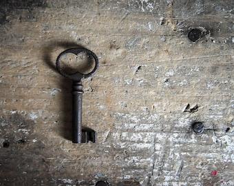 Antique Skeleton Key, Brass Key, Collectibles