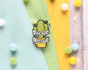 Cactus Pin Badge Succulent Pin Badge Cactus Pin Cactus Badge Enamel Pin Badge Fun Pin Badge Cactus Enamel Pin Badge Enamel Pin Gift Pin Game