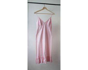1990s Pink Cotton Slip Dress