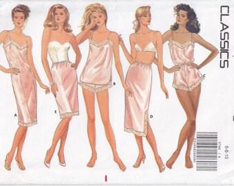 Vintage Pattern Butterick 5740 Underwear 80s Size 6-10 B30-1/2-32-1/2 UNCUT