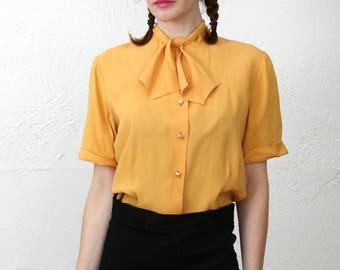 SALE Saffron Bow Blouse