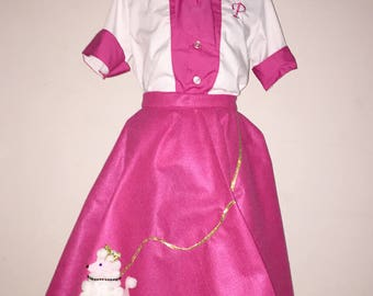 Poodle Skirt 50's girl Costume