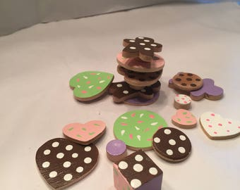 Don't let the cookies tumble wooden game