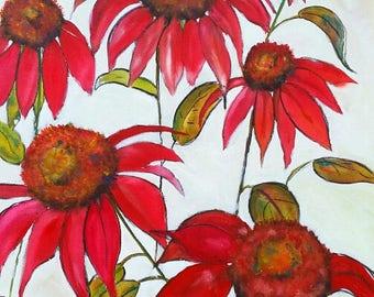 Love, Red Flower, 8 x 10 print