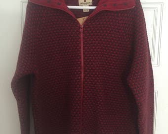 Brick red sweater | Etsy