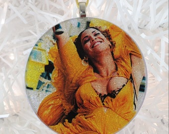 Beyonce Lemonade glass and glitter ornament