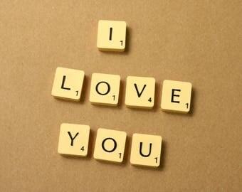 I Love You (scrabble letter tiles)