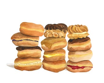 Reserved for Mary: Donut Stacks Greeting Cards  - Set of 6