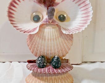 Vintage Shell Owl