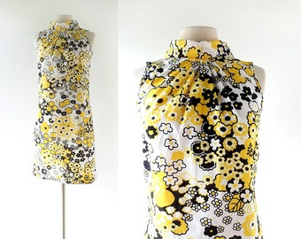 1960s Mod Dress | Crazy Daisy Dress | 60s Dress | Small S