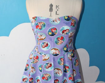 little mermaid - lilac - sweet heart dress.