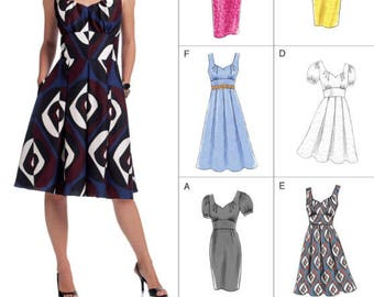 VOGUE DRESS Sewing Pattern ~ Easy Options Dresses 4 Sizes 8555
