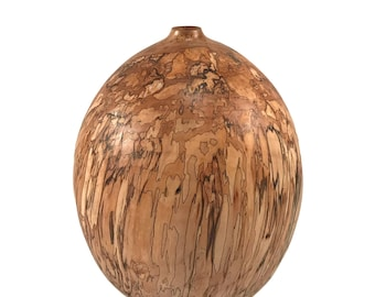 Handmade Home Decor - Wood Art - Spalted Maple Vessel - Seduction in Maple - Sale