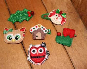 Choose Your Favorite Christmas Themed Hair Clip
