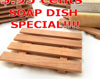 SOAP DISH SPECIAL - 8 Spanish Cedar Soap Dishes Just 1.09 each - limited quantities available