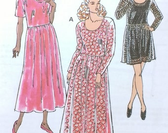 Kwik Sew Pattern 2289 Misses Pull Over Dress pattern, scoop neck, baby doll style.  Misses Sizes XS to XL