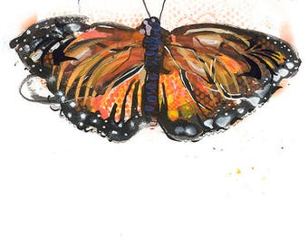 Monarch Butterfly Open Edition // home decor// Art Print// butterfly art // contemporary design  5x7, 8x10, 11x14, or 13x19