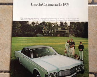 1968 Lincoln and National Geographic Advertisement